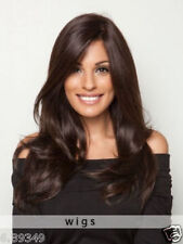100% Real Hair! Dark Brown Long Layers And Loose Waves Human Hair Wigs