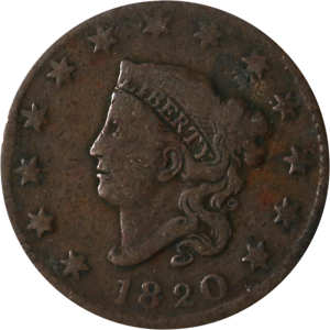 1820 Large Cent - Small Date Great Deals From The Executive Coin Company