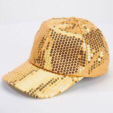 Gold Sequin Baseball Cap - Hip Hop Street Dance Costume Accessory