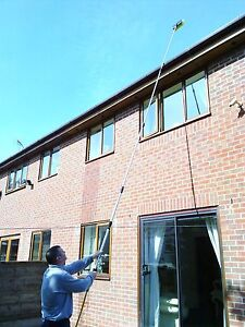 17FT WATER FED WINDOW CLEANING POLE BRUSH TELESCOPIC CONSERVATORY EQUIPMENT 760625640523