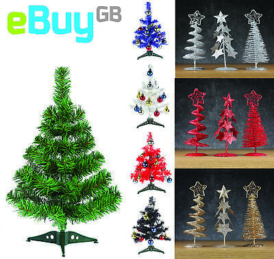 10-30cm Christmas Table Top Desk Artificial Small Mini Xmas Tree COLOUR CHANGING