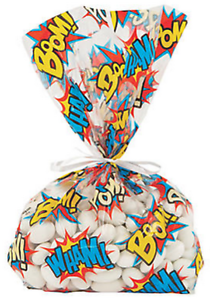 Pack-of-12-Comic-Superheroes-Saying-Cellophane-Bags-Party-Bags-Superhero