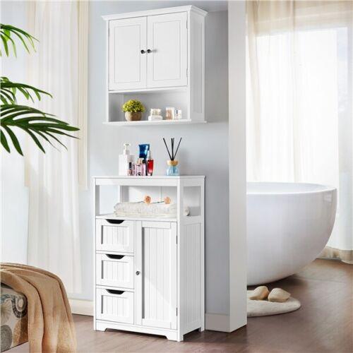 Bathroom Floor Cabinet Storage Unit, Narrow Bathroom Floor Cabinet With Drawers