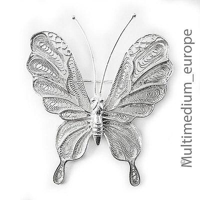 Antiker Jugendstil Schmetterling Silber Brosche Filigran Silver Brooch Butterfly StäRkung Von Sehnen Und Knochen