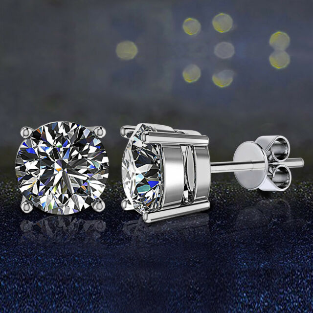 Fashion 8mm Square White//Violet//Blue//Yellow 2 Carat Stone JULIANI 18k-Gold-Plated Hypoallergenic Stud Earrings Girls Teens Jewelry For Women Kids
