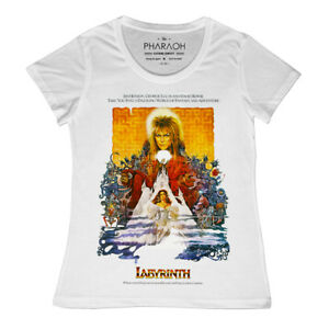 bbf1d0d65 Image is loading Ladies-LABYRINTH-RETRO-MOVIE-POSTER-T-SHIRT-DAVID-