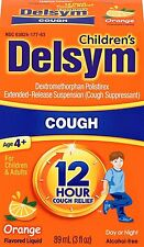Delsym Children's Cough Suppresant, Orange Flavored Liquid, Alcohol Free, 3 Oz