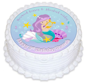 Little Mermaid Edible Cake Cupcake Toppers 1st 2nd