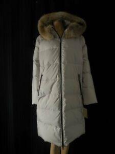 MICHAEL-KORS-Puffer-Coat-Medium-beige-Hood-faux-fur-trim-Down-Feather-fill-NWT