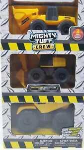 Mighty-TUFF-Crew-de-construccion-vehiculo-3-Pack-Todo-en-uno-de-rueda-libre-Nueva-En-Caja