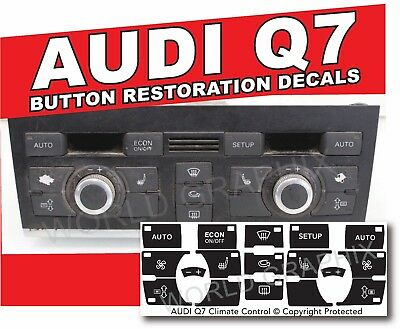 AC Button Repair Overlays Audi A6 Climate Control Decals 98-06