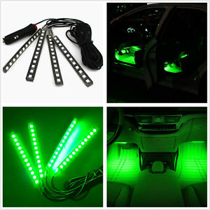 Car Suv Interior Footwell Floor Decor Atmosphere Light Green Led Neon Lamp Strip 4651126822913
