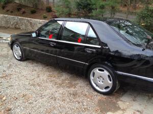 1991-1999-Mercedes-S-Class-W140-4Pc-Window-Sill-Trim-Overlay-Accent-S420-S320