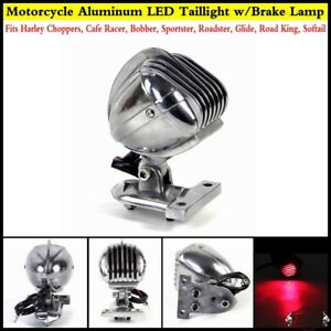 Chrome-DEL-montage-lateral-Microphone-Frein-Feu-Arriere-Pour-Harley-ROADKING-Sportster