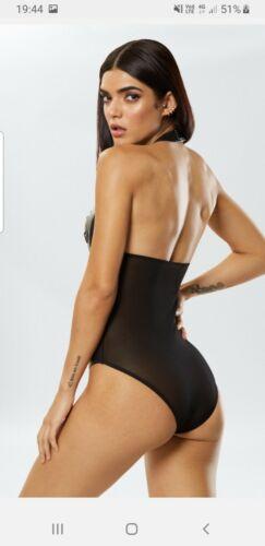 Ann Summers Unleash me  Black Body Size Medium 12 14  NWT