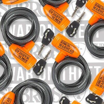 "*NEW* Subrosa Warhead BMX Bicycle Lock 2 Keys 10mm Thick 22/"" Long *NEW*"