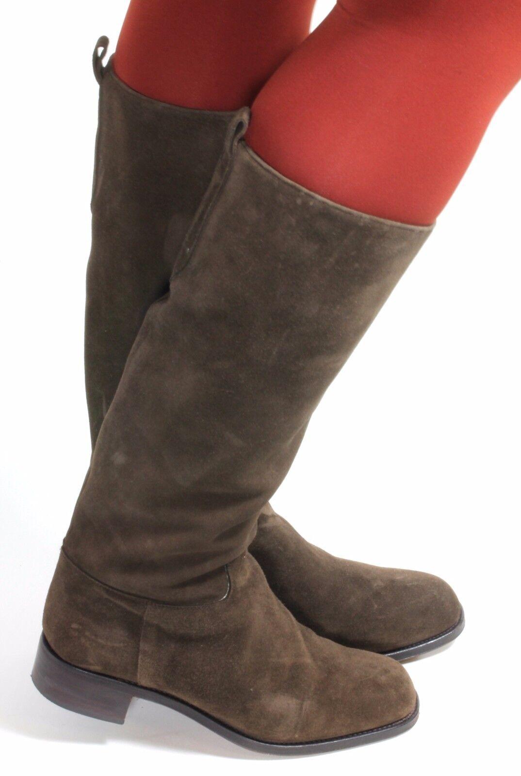 Damenstiefel Vintage Stiefel Leder Blogger Reiter Military Carmina Stiefel Edel 37