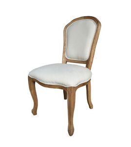 French Style Upholstered Oak Dining Chair