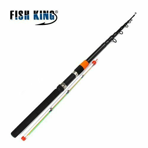 Fishing Rods Tackle Extra Heavy 120g Carbon Fiber Telescopic 2 Sections Feeder