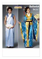 Butterick B6267 Misses Japanese Kimono Yukata Obi Dress Costume Pattern Sz 6-22