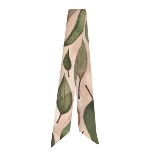 Women Silk Twilly Scarf Twill Handbag Handle Scarves Wrap Purse Hair Bow Ribbon