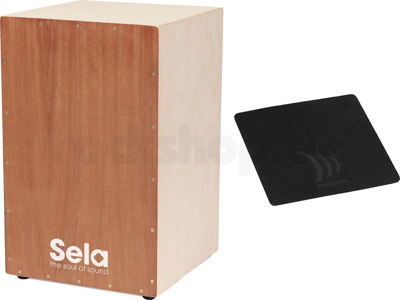 Sela SE 001 Cajon Bausatz mit Werkzeug + Cajon Schule Buch CD + Pad Sitzauflage
