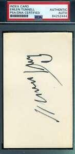 Emlen Tunnell PSA DNA Coa Hand Signed 3x5 Football Index Card Autograph