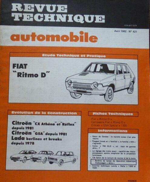 Nuttig Neuf Revue Technique Fiat Ritmo D Diesel Rta 421 1982 + Cx Athena Reflex Gs Lada