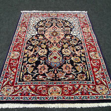 Orient Teppich Seide 93 x 71 cm Vasenmuster Blau Perserteppich Blue Silk Carpet