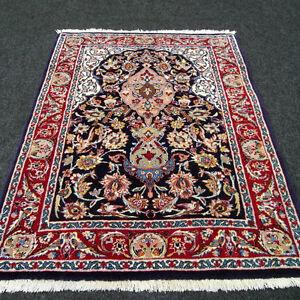 Perserteppich seide  Orient Teppich Seide 93 x 71 cm Vasenmuster Blau Perserteppich ...