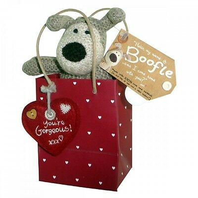 """Boofle 3"""" Mini Plush In A Red Gift Bag You're Gorgeous Valentine's Day Gift New"""