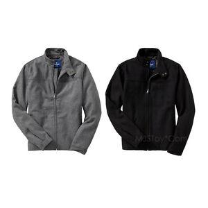 1d15618a209 NWT Old Navy Black Wool Blend Zip Men Jacket Winter Coat Standing ...