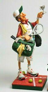 Statue Junge Abbildung Karrikatur Über Tennisspieler Forchino Figur Tennis Comic