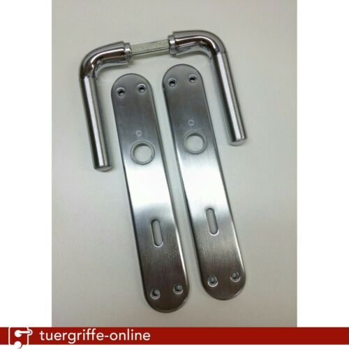 Chrome//Matt f45 B-Ware Door Handle Knob Set Hoppe Bari m1995//3020 BB Pol