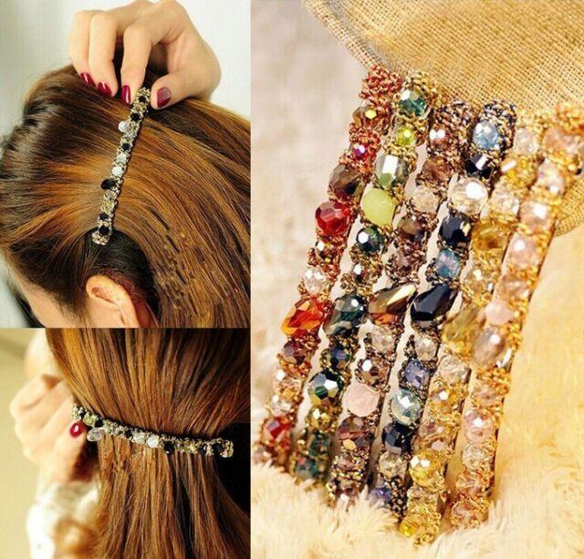 Fashion Jewelry Exquisite Crystal Rhinestone Barrette Hair Clip Hair Accessory