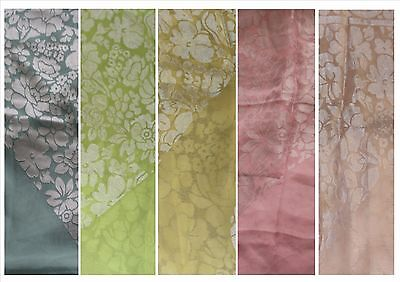 Burnout/devore Floral Print Satin On Chiffon Scarf £5.99 Each 1.10x1.10metres