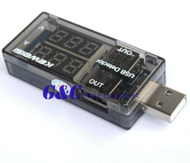 USB Current Voltage Tester USB Voltage Ammeter USB Detector Double Row Shows M89