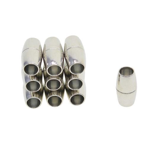 20 Sätze gemischte Größen Leder Kumihimo Barrel Magnetverschluss