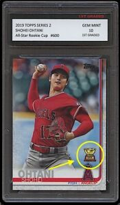 SHOHEI OHTANI TOPPS SERIES 2 ROOKIE CUP 1ST GRADED 10 CARD LOS ANGELES ANGELS
