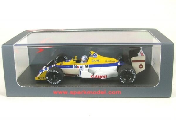 Williams fw12 No. 6 MONACO GP 1988 (riccardo patrese)
