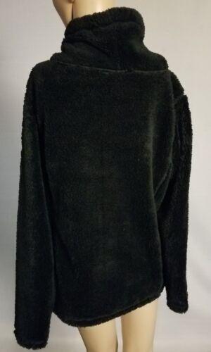 St Johns Bay Womens Active Cowl Neck Plush Pullover w Pocket Black S M L XL NWT