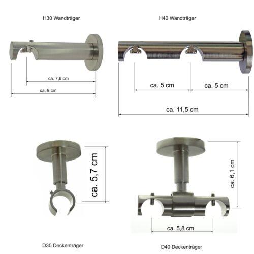 Gardinenstangen Träger für dm 20mm Innenlaufrohr H30 H40 D30 D40 Zubehör BASIT