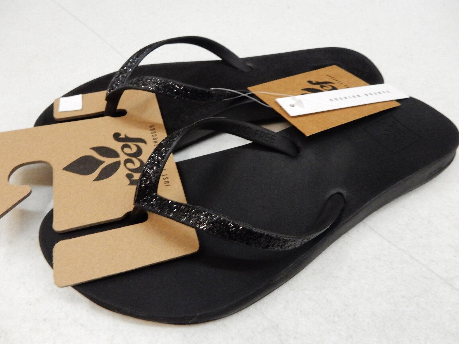 Reef Women/'s Cushion Bounce Stargazer Black Flip Flops Sandals Size 9