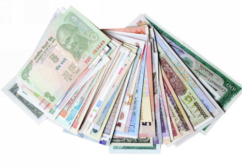 World Lot 100PCS Different Banknotes from 50 Countries Genuine Paper Money UNC