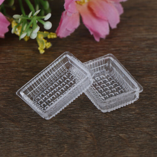 2Pcs 1:12 Dollhouse miniature accessories resin tray simulation food plate t/_WK
