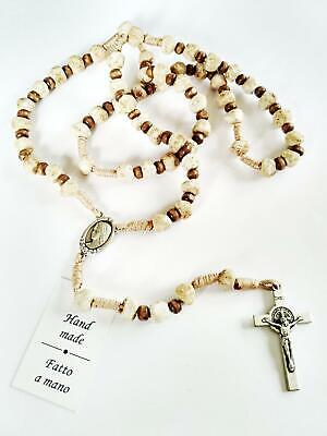 Catholic St.Benedict  Apparition Hill Medjugorje Stone Rosary Hand Made Rocks