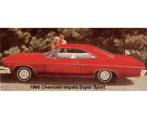 1966 Chevrolet Impala Super Sport  Refrigerator Tool Box Magnet Man Cave