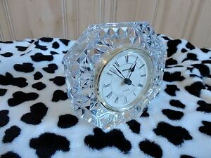 CRYSTAL GLASS MADE IN GERMANY LUXURY CLOCK