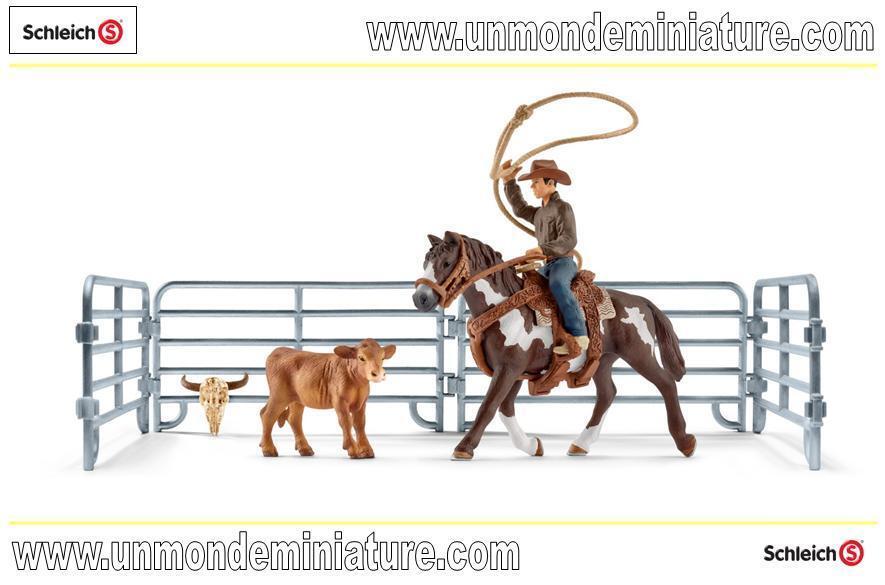 Farm World Capture Au Lasso Avec Un Cow Boy Boy Boy SCHLEICH - SC 42418 44a341