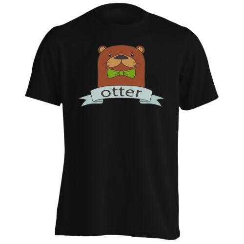 NOUVEAU dessiné main Otter BOW Tee-Shirt Homme//Tank Top l205m